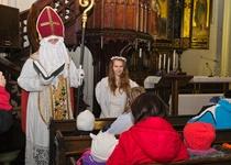 Adamovský kostel sv. Barbory navštívil Mikuláš