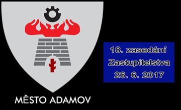 18. zasedání Zastupitelstva města Adamova