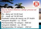 Oznámení o zahájení provozu sauny