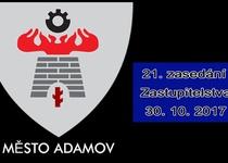 21. zasedání Zastupitelstva města Adamova