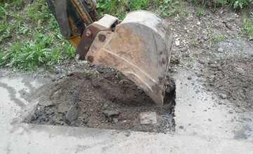 Havárie vodovodního řadu na ulici Dvořákova