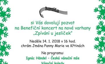 """Benefiční koncert """"Zpívání u jesliček"""" ve Křtinách"""
