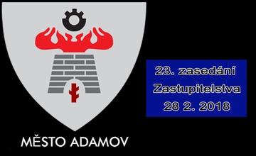 23. zasedání Zastupitelstva města Adamova