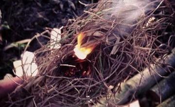 Oznámení o spalování suchého rostlinného materiálu