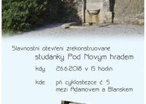 Slavnostní otevření zrekonstruované studánky Pod Novým hradem