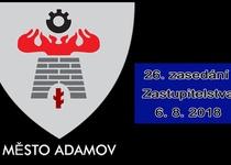 26. zasedání Zastupitelstva města Adamova