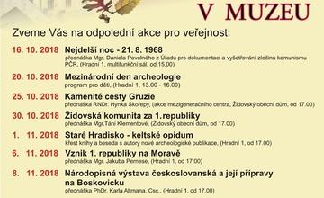 Podzimní akce v muzeu regionu Boskovicka