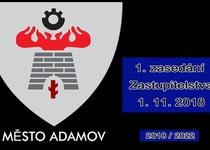 1. zasedání Zastupitelstva města Adamova