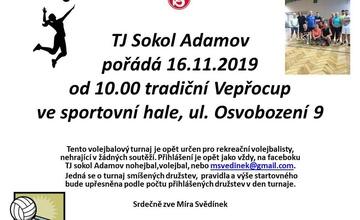 Pozvánka na volejbalový turnaj Sokol Adamov