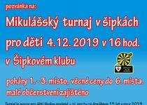 Mikulášský turnaj pro děti v šipkách