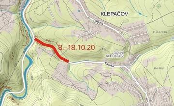 Uzavírka silnice mezi Olomučany a křižovatkou silnic Olomučany–Brno–Blansko