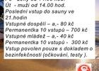 Zahájení provozu sauny Sokol Adamov