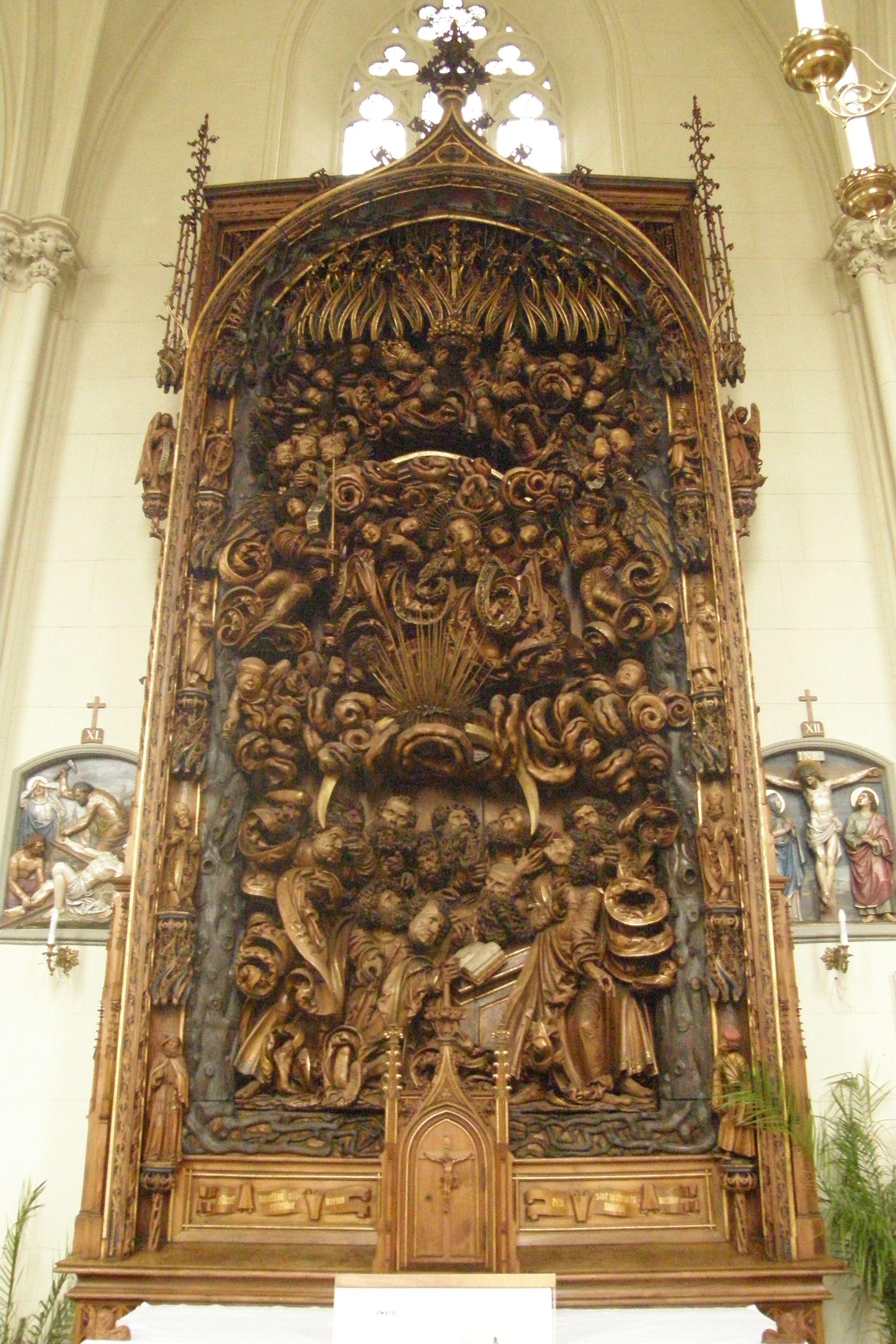 Světelský oltář v kostele v Adamově