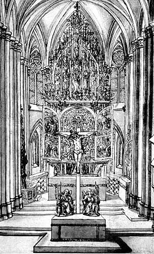 Světelský oltář v kostele ve Světlé